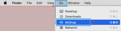 AirDrop Option on Mac