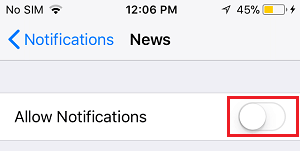 Turn Off Notifications For App on iPhone