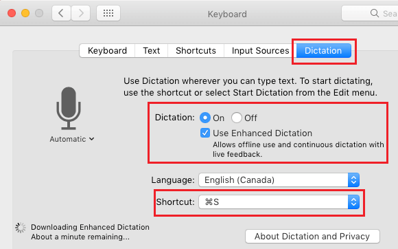 Enable Enhanced Dictation Mode on Mac