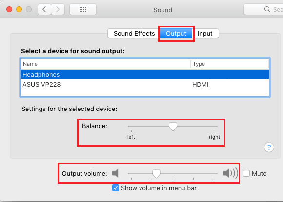 Adjust Stereo Balance on Mac