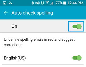 Enable Auto Spell Check Option On Android Phone