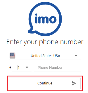 Enter Phone Number Into imo