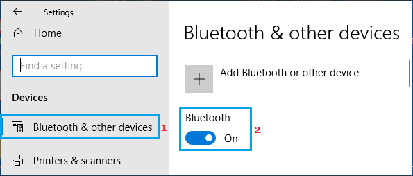 Switch ON Bluetooth On Windows Computer