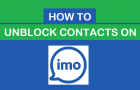 How to Unblock Contacts on imo