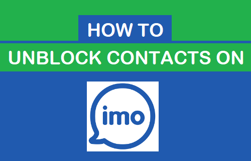Unblock Contacts on imo