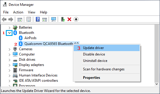 Update Bluetooth Driver