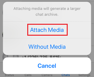 Attach Media to Exported WhatsApp Chat