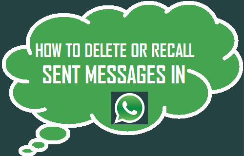 Recall or Delete Sent Messages in WhatsApp
