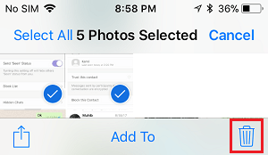 Delete Screenshots on iPhone