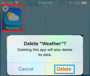 Delete Weather App On iPhone