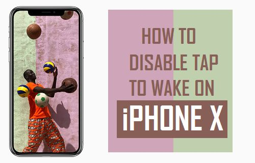 How to Disable Tap To Wake on iPhone X