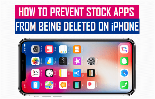 Prevent Stock Apps From Being Deleted on iPhone