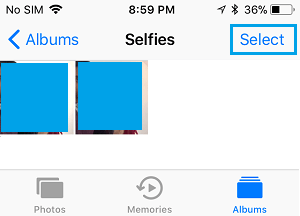 Select Selfies to Delete on iPhone
