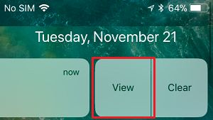 View Notification Option on iPhone