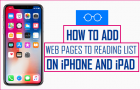 How to Add Webpages to Reading List on iPhone and iPad