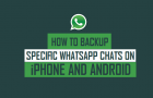 Backup Specific WhatsApp Chats On iPhone and Android