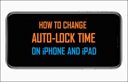 Change Auto-Lock Time on iPhone and iPad