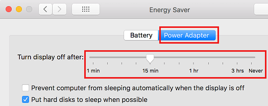 Change Sleep Timer While Connected to Power on Mac