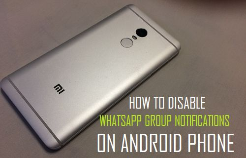 Disable WhatsApp Group Notifications on Android Phone