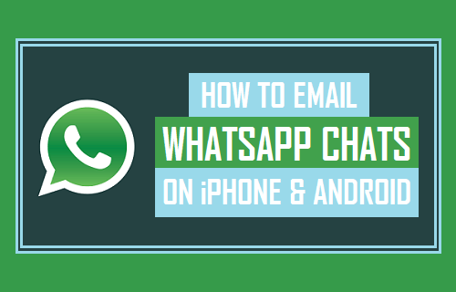 Email WhatsApp Chats on iPhone and Android