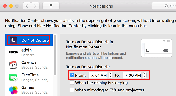 Enable Do Not Disturb Mode on Mac