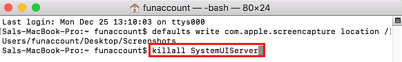 killall SystemUIServer Command in Mac Terminal