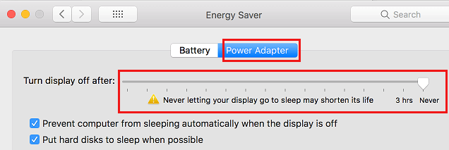 Never Let Mac Display Sleep When Connected to Power Adapter