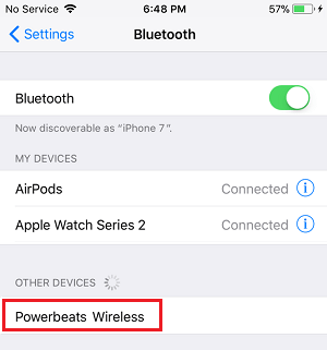 Bluetooth Headset Pairing with iPhone