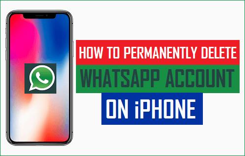 Permanently Delete WhatsApp Account on iPhone