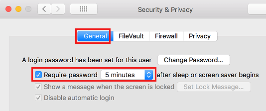 Require Password After Mac Display Sleeps