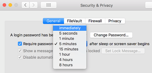 Require Password Immediately After Mac Display Sleeps