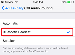 Route Audio Calls Via Bluetooth Headset on iPhone