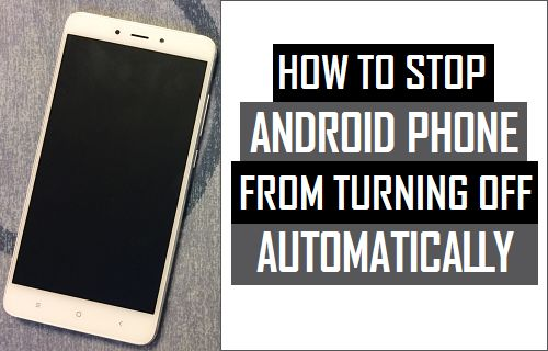 How to Stop Android Phone From Turning Off Automatically