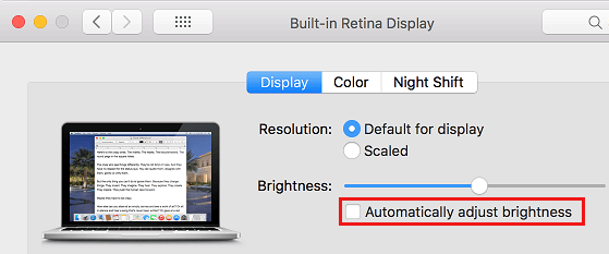 Stop Mac From Automatically Adjusting Brightness