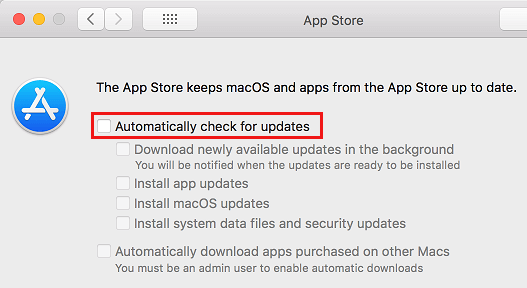 Stop Mac From Automatically Checking for Updates