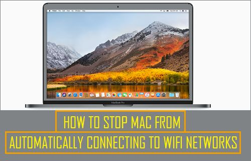Stop Mac From Automatically Connecting to WiFi Networks