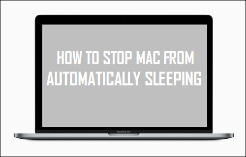 Stop Mac From Automatically Sleeping