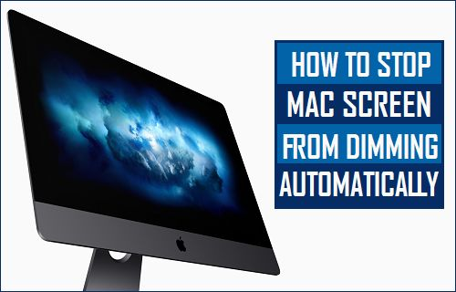 Stop Mac Screen From Dimming Automatically