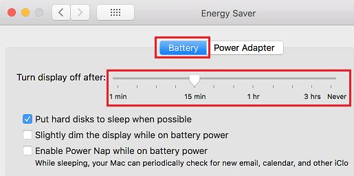 Turn Display Off After Slider on Mac