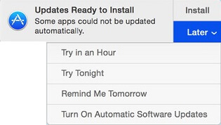 Updates Ready to Install Notification on Mac
