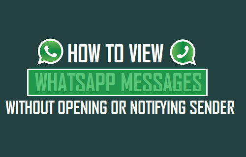 How to Read WhatsApp Messages Without Opening or Notifying