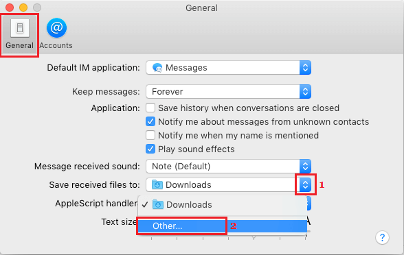 Change Default Download Location For Messages App on Mac