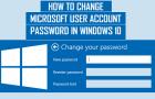 How to Change Microsoft User Account Password in Windows 10