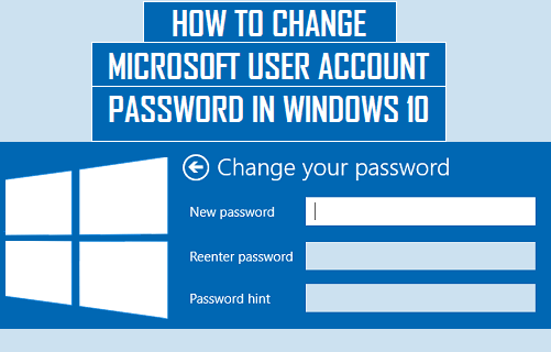 Change Microsoft User Account Password in Windows 10