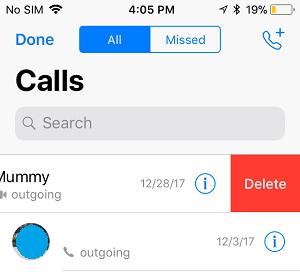 Delete Specific WhatsApp Calls on iPhone