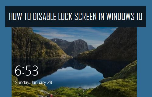 how to disable win 10 login screen