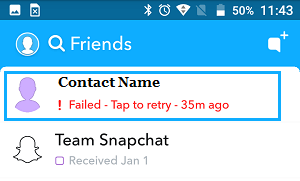 Friends Screen in Snapchat