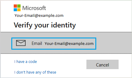 Verify Identity Using Email Address