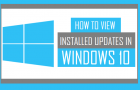 How to View Installed Updates in Windows 10