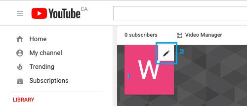Edit YouTube Profile Picture